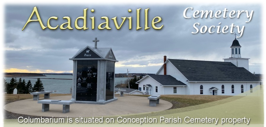 The Columbarium - Acadiaville Cemetery Society - Immaculate Conception Parish Cemetery